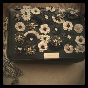 Michael Kors Jade Floral Sequined Leather Clutch